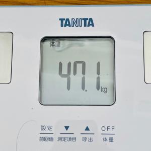 本日の体重と体脂肪率【14日目】
