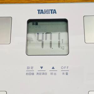 本日の体重と体脂肪率【16日目】