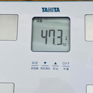 本日の体重と体脂肪率【17日目】