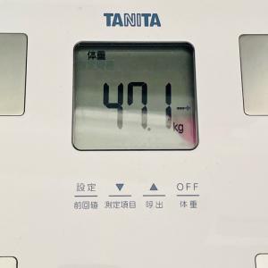 本日の体重と体脂肪率【18日目】