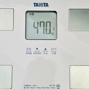 本日の体重と体脂肪率【19日目】