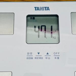 本日の体重と体脂肪率【22日目】