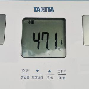 本日の体重と体脂肪率【23日目】