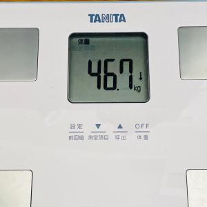 本日の体重と体脂肪率【26日目】