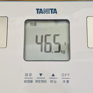 本日の体重と体脂肪率【27日目】