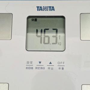 本日の体重と体脂肪率【29日目】