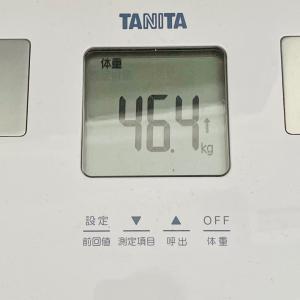本日の体重と体脂肪率【30日目】