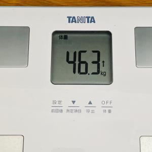 本日の体重と体脂肪率【35日目】