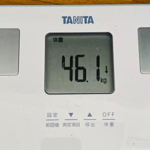 本日の体重と体脂肪率【41日目】
