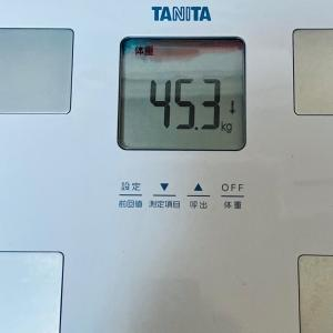 【そんなバナナ】本日の体重と体脂肪率【45日目】