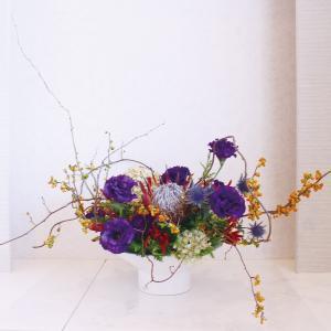 木下内科クリニックの生け花(神無月の壱):「つる梅もどき」