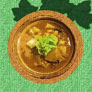 オートミール キムチ豆腐