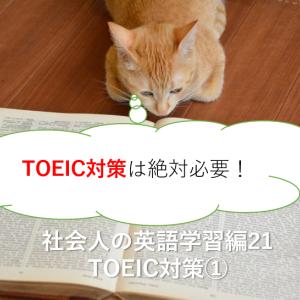 TOEIC対策は絶対必要!-社会人の英語学習21 TOEIC1-
