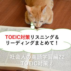 TOEIC対策リスニング&リーディングまとめて!-社会人の英語学習22 TOEIC2-