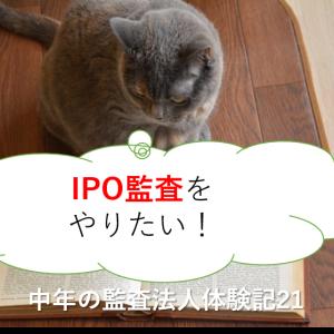 IPO監査をやりたい!-中年の監査法人体験記21-