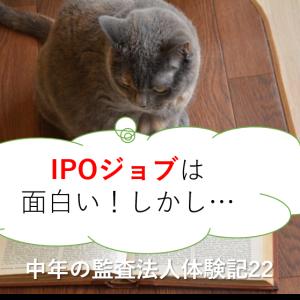 IPOジョブは面白い!しかし…-中年の監査法人体験記22-