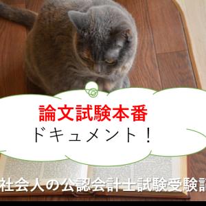 論文試験本番ドキュメント!-新卒社会人の公認会計士試験受験記31-