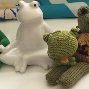 カエルさんたちも元気です Frog Plush