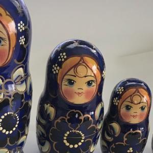 ロシアの空港で買ったマトリョーシカ いろいろ  Matryoshka I bought at the Russian airport