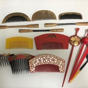 櫛 かんざし 笄(2)  Japanese  Hair Ornaments (2)