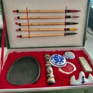 12年前に中国で買った書道セットが出てきた!  I bought tools for Calligraphy in China 12 years ago.