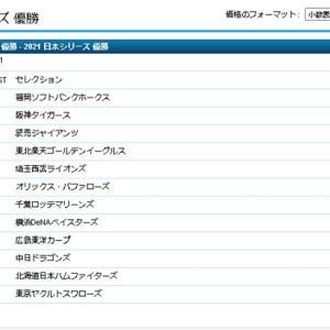 2021年プロ野球日本一の予想オッズ(ウィリアムヒル)