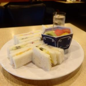 日本橋 純喫茶でフルーツサンドを♡<ロータス>のフルーツサンド