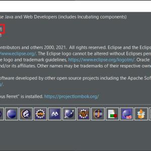 【Eclipse】バージョンを確認するやり方を解説します