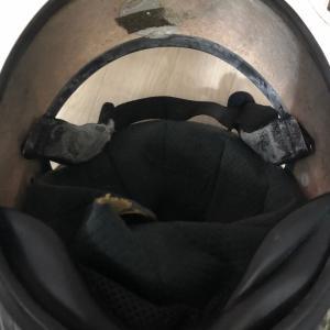 ヘルメットのインナー修理完了
