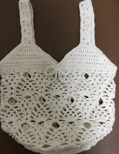 編みかけバッグの仕上げ