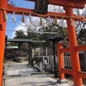 屯倉神社と梅の花