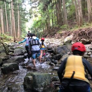 吉野ファミリーキャンプ 1日目①(リバートレッキング)