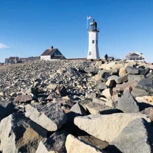 自粛しつつの外出 北米の冬の海辺の灯台へ