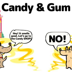 """Canvaで初めて作った娘の漫画 """"Candy & Gum"""""""