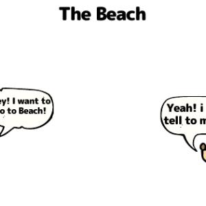 "Cnavaで漫画 第2弾 ""The Beach"" 浮輪は英語で何て言う?"