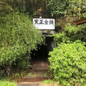 ほぼ当時のまま姿を止める土肥の手掘りの坑道跡 龕附(がんつき)天正金鉱