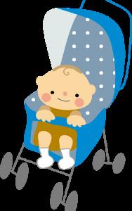 暑い夏 ベビーカー時 赤ちゃんの生足も暑さ対策を。