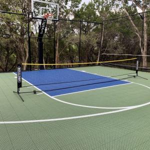 アメリカで庭をリノベーション 庭でバスケット、テニスがしたい