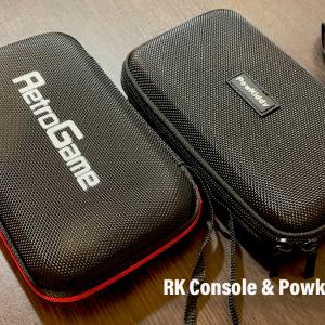 PowkiddyとRK Consoleのおまけポーチを比較してみたぞ