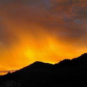 朝焼け&その後の空