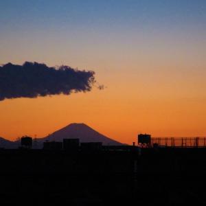 夕景~富士山と東京