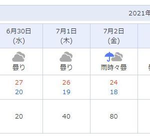 梅雨明けまで
