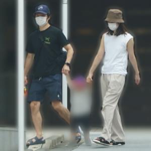 【芸能】渡部建&佐々木希がまさかの親子3人で手をつなぎ散歩wwwwwww