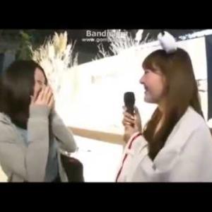 放送事故w インタビューで巨乳素人の乳を揉むw  Japan adult movie