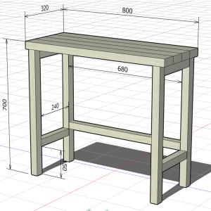 小さな机をDIY