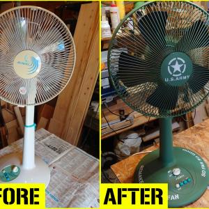 古い扇風機をリメイク