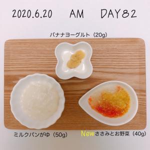 離乳食 13週目(生後34-35週目)