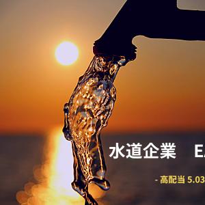 """■水道企業ディフェンシブ銘柄の""""仮面""""EASTW高配当5.03%"""