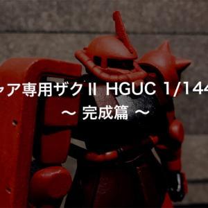 シャア専用ザクⅡ HGUC 1/144 ③ ~ 完成篇 ~