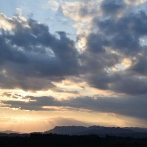 宮崎、今日(9月27日)の夕陽